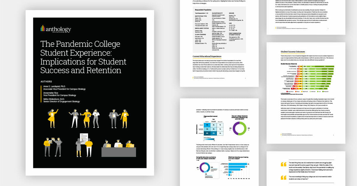 College Student Re-Enrollment Intent Holds Strong Despite Payment Concerns and Dissatisfaction During Pandemic, Says Anthology Survey