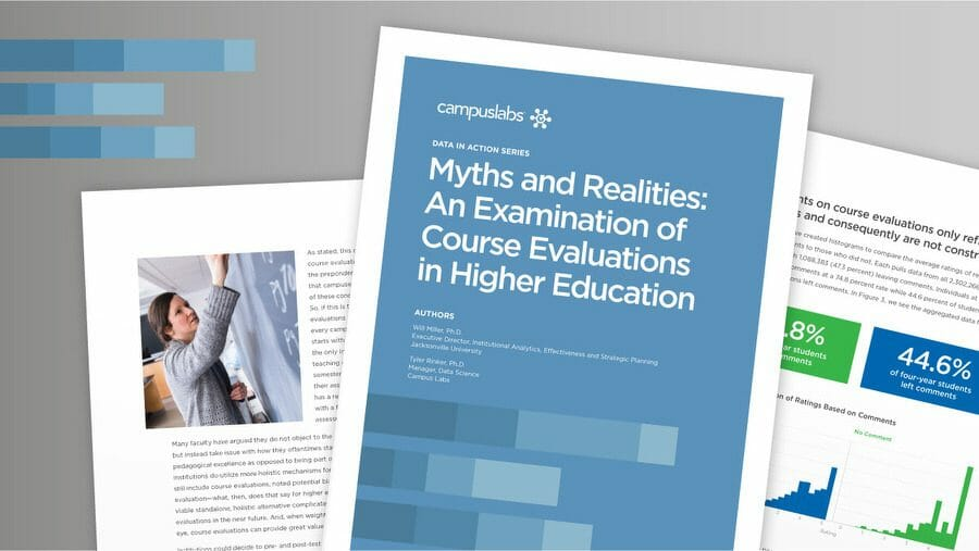 Myths and Realities: An Examination of Course Evaluations in Higher Education