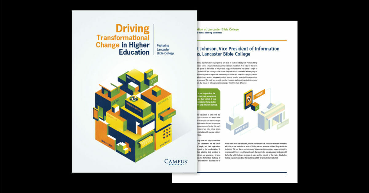 Driving Transformational Change in Higher Education
