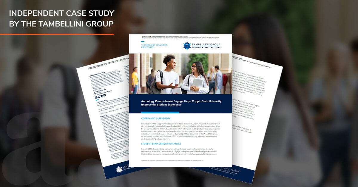 Anthology CampusNexus Engage Helps Coppin State University Improve the Student Experience
