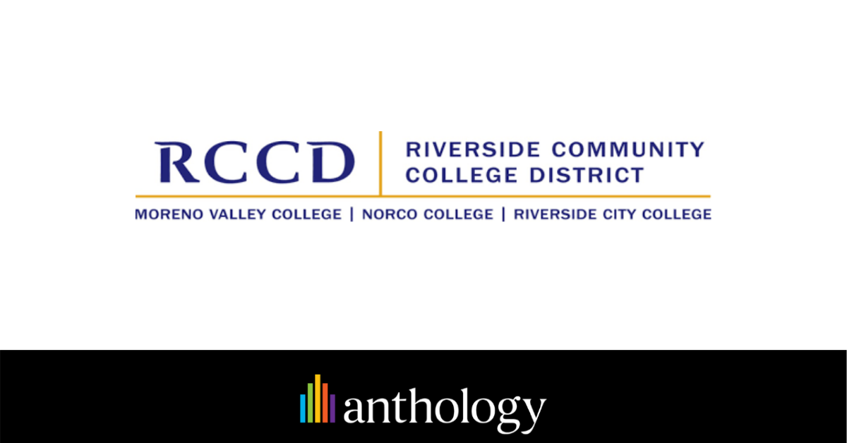 Riverside Community College District to Deploy Anthology's Comprehensive CampusNexus Solutions Across the District
